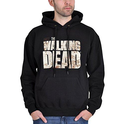The Walking Dead - felpa con cappuccio - hoodie - logo sul davanti e stampa sul retro - nero - XL