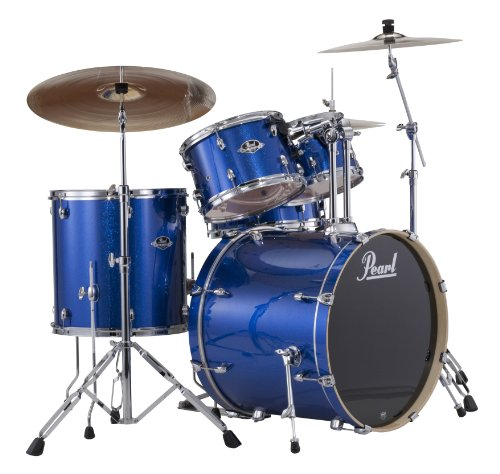 Pearl Exx725S/C 5-Piece Export New Fusion Drum Set With Hardware - Electric Blue Sparkle