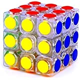 Best Bid Offer,Professional High Speed Smooth 3x3x3 Magic Cube Puzzle With Dot Shape Twist Cubo Magico Kids Brain...