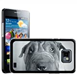 Fancy A Snuggle Black and White Shar Pei Dog Design Hard Case Clip On Back Cover for Samsung Galaxy S2 i9100