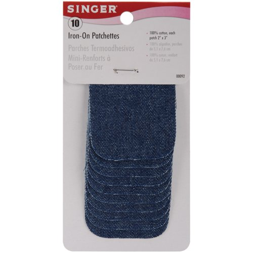 Why Should You Buy Singer 2-inch-by-3-inch Iron-On Patches, Denim, 10 per package