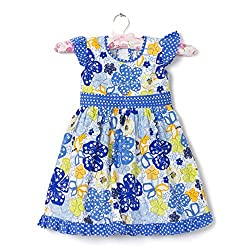 F-Loop Stiched Baby Girls Cotton frocks (F-27-22_Blue)