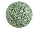 65cm yoga ball cover, exercise ball cover, balance ball cover, stability ball cover, Stretch cotton - Green Swirl