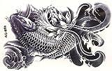 タトゥーシール 鯉 約22cm×15cm ランキングお取り寄せ
