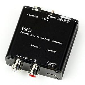 FiiO D3 Digital to Analog Audio Converter - 192kHz/24bit Optical and Coaxial DAC