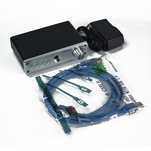 FX-Audio FX-98S ヘッドフォンアンプ USBデコーダーDAC PCM2704 MAX9722 (シルバー)