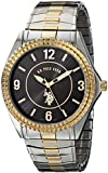 U.S. Polo Assn. Classic Men's USC80025 Two-Tone Analogue Black Dial Expansion Watch