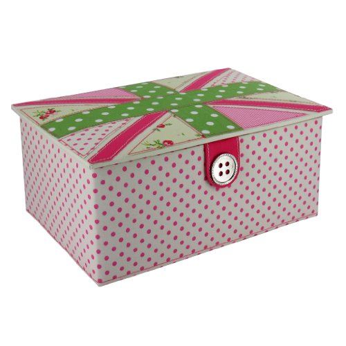 Polka Dot/Floral Union Jack Sewing Box (G16)