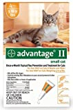 Advantage Once-A-Month Topical Flea Treatment for Cats & Kittens up to 9 Lbs (4 Applications)