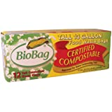 BioBag, Food Waste Bags, 13 Gallon, 12 Count (Pack of 4)