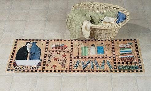 laundry wash room throw rug utility cushion mat home decor