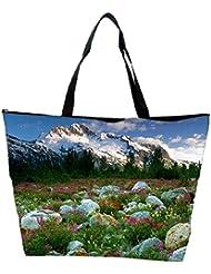 Snoogg Big Stones In Garden Designer Waterproof Bag Made Of High Strength Nylon
