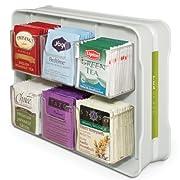 YouCopia TeaStand 100+ Tea Bag Organizer, White