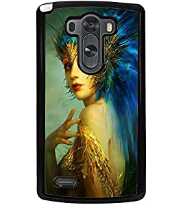 ColourCraft Fantasy Girl Design Back Case Cover for LG G3
