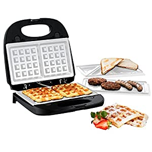hoberg multi star 3 in 1 waffeleisen sandwichmaker und kontaktgrill mit ceraslide bio lon. Black Bedroom Furniture Sets. Home Design Ideas