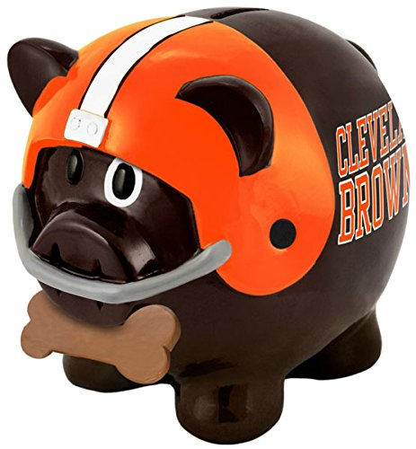 NFL Cleveland Browns Resin Large Thematic Piggy Bank - 1