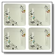 Artland Laurie Gates Luxe Samantha Dinner Plates, Set of 4