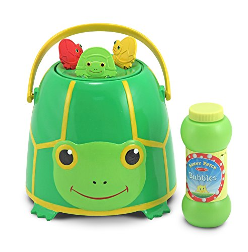 Melissa & Doug Sunny Patch Tootle Turtle Bubble Bucket