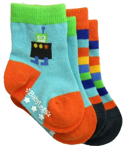 Babylegs Little Boys' Galactic Socks, Assorted, 2-4T front-1041963