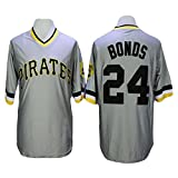Barry Bonds Jersey Pittsburgh Pirates Men's Throwback Baseball Embroidery and Stitched Gray XL