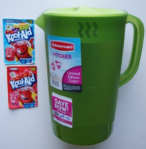 Rubbermaid Gallon Pitcher Limited Edition Color - Green (Bonus: 2 Kool-Aid Packages) Home & Kitchen front-495902