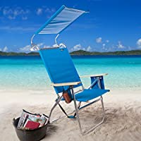 Copa 4-Position Big Tycoon Canopy Beach Chair with FREE Beach Bag