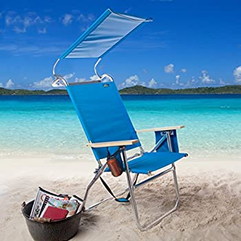 Copa 4-Position Big Tycoon Canopy Beach Chair