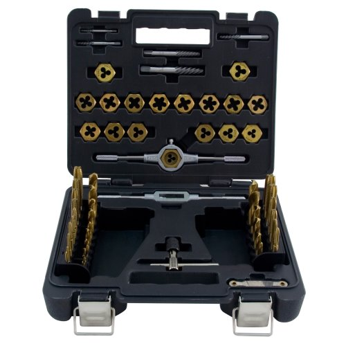 Mibro 301400 60-Piece Tap, Die and Drill SAE Set