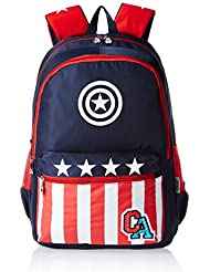 Captain America Nylon 48 Cms Blue And Red Children's Backpack (MBE-WDP0456)