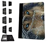 1113 - cool fun wolf blue eyes wildlife snow pet dog rare love Design Amazon Kindle Paperwhite 6'' 2014/2015 Fashion Trend TPU Leather Flip Case Protective Purse Pouch Book Style Defender Stand Cover