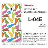 docomo Optimus G Pro L-04E ケース Optimus G Pro L-04E カバー ケース・ジャケット【足あと046/l04e-PM046】