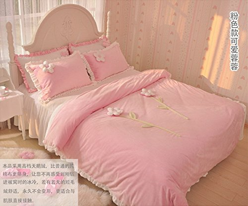 What A Woman Pink And White Duvet Cover Set Princess Bedding Girls Bedding Women Bedding Gift Idea, Queen Size front-793518