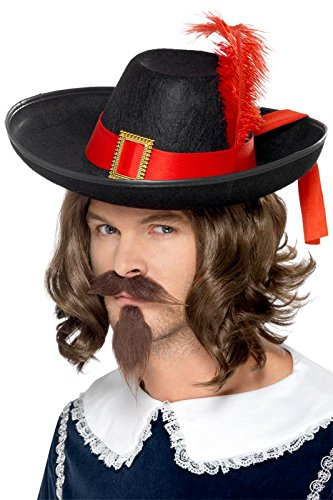 Smiffy's Men's Musketeer Hat, Black, One Size - 1