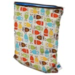 Planet Wise Wet Diaper Bag, Owl, Medium
