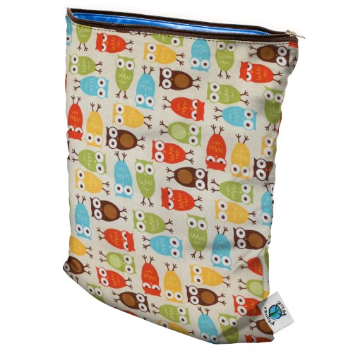 Planet Wise Wet Diaper Bag, Owl front-961349