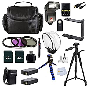 "Professional Accesory Kit for Nikon COOLPIX P900 Digital Camera Includes: 2 32GB Memory Card + 2 Batteries + 72"" Tripod + 3 pc. Filter Kit & more"
