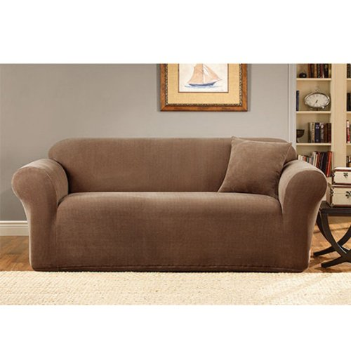 Sure Fit Stretch Metro 1 Piece Loveseat Slipcover Brown