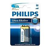 Philips 6LR61E1B/10 Ultra Alkaline 9V Square Battery