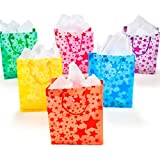 Frosted Star Gift Bags (1 dz)