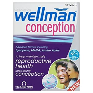 Vitabiotics Wellman Conception Tablets 30 Tablets