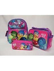 "Inside Out Disney Pixar Preschool Medium 12"" Backpack Book Bag, Lunch Box & Pencil Pouch"