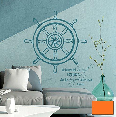 Graz-design-sticker-mural-dcoratif-motif-gouvernail-de-mer-du-vent-avec-inscription-en-allemand-citation-de-aristote-m1485-choix-de-couleur