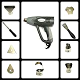 HEAVY DUTY 2000 WATT DUAL TEMPERATURE SETTINGS HEAT GUN WITH 9 ACCESSORIES FOR VARIOUS APPLICATIONS