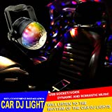 12V Car Disco DJ Effect Stage LED Light Color Changes RGB Sound Actived Crystal Magic Ball Light for KTV Xmas Party Wedding Birthday Outdoor Dancing Show