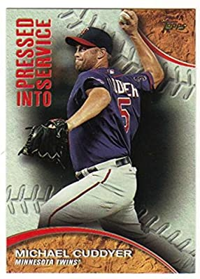 2016 Topps Series 1 Pressed Into Service #PIS-4 Michael Cuddyer Minnesota Twins