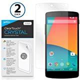 BoxWave Google Nexus 5 ClearTouch Crystal (2-Pack) Screen Protector - Premium Quality, Ultra Crystal Clear Film Skin to Shield Against Scratches (Includes Lint Free Cleaning Cloth & Applicator Card) - Google Nexus 5 Screen Guards and Covers
