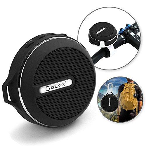 Cellonic-Kabelloser-Bluetooth-Lautsprecher-Follower-inkl-Fahrradhalterung-und-Karabinerhaken-wasserdicht-8-10m-Reichweite-Freisprechfunktion-Outdoor-Speaker-Boxen-kabellos-mobil-Lautsprecherboxen-wass