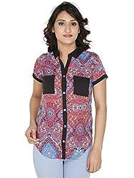 Gugg Women's Self Design SHIRT [GS16A12_BLUE]