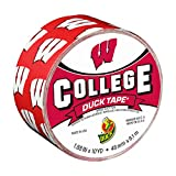 Duck Brand 241408 University of Wisconsin College Logo Duct Tape, 1.88-Inch by 10 Yards, Single Roll