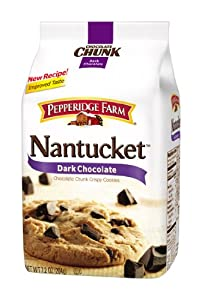 Pepperidge Farm Nantucket Soft Baked Dark Chocolate Chunk Cookies, 8.6-Ounce (Pack of 4)